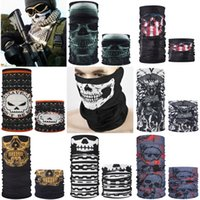 Wholesale skull c for sale - Group buy Pure Color Gradient Magic Bandana Printed Multi Color Anti Uv Face Mask Neck Er Summer Multifunctional Halloween Skull Scarf Outdoor C
