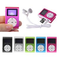 Wholesale clip mp3 player lcd metal resale online - MX Mini USB Metal Clip Micro SD TF Card Slot LCD Screen Music MP3 Player