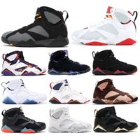 Wholesale raptor box for sale - Group buy 7s Bordeaux Hare Raptor Olympic Ray Allen New Men Basketball Shoes Patta Sweater Barcelona Nights French Blue Sneaker With Box
