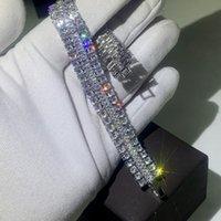 Wholesale bracelet topaz for sale - Group buy Stunning Luxury Jewelry Sterling Silver Handmade Popular Full White Topaz CZ Diamond Charm Party Women Wedding Bridal Bracelet Gift