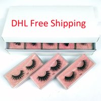 Wholesale styling natural hair resale online - 3D Mink Eyelashes styles d Mink Lashes Natural Thick Fake Eyelashes Makeup False Lashes Extension In Bulk DHL