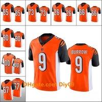 Wholesale Cincinnati Bengals Men Joe Burrow Tee Higgins Anthony Zettel Women Youth NFL Custom Orange Vapor Limited Jersey
