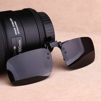 Wholesale clip night vision goggle for sale - Group buy Polarized clip upturned sun with box cloth night box sun Night vision goggles sun glasses vision glasses for male and female drivers