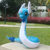 "Cuddly Dragonair 26"" Dragon Plush Toys Cartoon Soft Hakuryu Stuffed Animal Doll LJ200808"