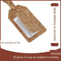 Wholesale cork board for sale - Group buy 00Bcw Cork boarding hanging card Tagcover label custom shipping Cork luggage boarding hanging card Tag Tagcover luggage label custom shippin