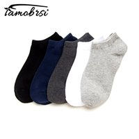 Wholesale gift packs for men resale online - 5 Pairs Solid Classic Socks Casual Travel Business Work White Black Invisible Short Style Pack Gifts For Men Cotton sock