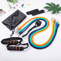 Wholesale exercising equipment for sale - Group buy 11pcs set Pull Rope Fitness Exercises Resistance Bands Latex Body Training Workout Elastic Yoga Band Exercise Equipment CYZ2607 Sea Shipping
