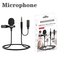Wholesale mini microphone cell phone resale online - 3 mm Type C to mm jack interface phone microphone Mini Portable Microphone Condenser Clip on Lapel Lavalier Mic Wired TYPE C MICROPOHE