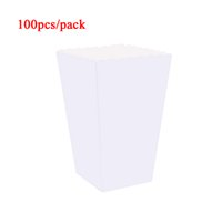 Wholesale popcorn bags for sale - Group buy 100pcs White Paper Popcorn Boxes Bags Holder Candy Containers Cartons Snack Bags Popcorn Box Party Favors Supplies Kids Children