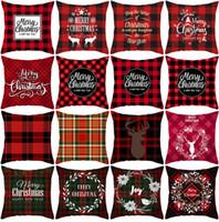 Wholesale Christmas Pillowcases Merry Christmas Decor For Home Sofa Pillow case Noel Christmas Gifts Navidad Xmas Cristmas Decor