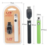 Discount 510 thread battery variable voltage New LAW Preheating VV Vape Pen 1100mah Battery With USB Charger Variable Voltage Preheat Battery 510 Thread Starter Kits Blister Pack