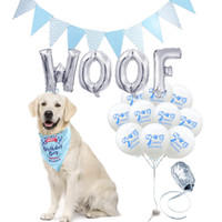 Wholesale hat products resale online - Dog birthday balloons globos letter balloon WOOF dog accessories pet products safari party birthday hat rose gold party supplies