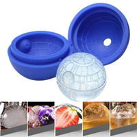 bolas de gelo de silicone venda por atacado-Rodada Bola Ice Cream Mold criativa Silicone Sphere Ice Cube Moldes Bar Partido Bandeja Cocktail Fruit Juice Beber VT1524 Ice Maker Mold