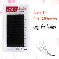 Wholesale eyelash flares resale online - 15 mm Easy Fan Lashes Extensions Easy Fanning Eyelash Extensions Flare Eyelash Extension Natural Long Bloom Austomatic