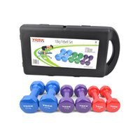Wholesale weights for dumbbells resale online - US STOCK York Fitness Vinyl Coated Colorful Dumbbell Fitbell kg lb Set Pairs of Weight w Carry Case Exercise Equipment For Men Women