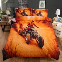 Wholesale bedding shams for sale - Group buy Yellow D Bed Linen Motorcycle Racing Bedding Set King Size Duvet Cover Sets Single Kids Children Quilt cover with Pillow Sham