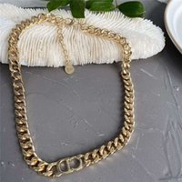 Wholesale thick chains resale online - 2020 Summer CD thick chain personalized short chain cold wind exaggerated fashion Internet celebrity same necklace