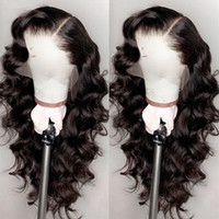 Wholesale hand baby resale online - Brazilian Loose Wave Lace Front Human Hair Wigs for Black Women Pre Plucked with Natural Hairline Baby Hair Density
