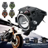 Wholesale angel eyes headlight motorcycle for sale - Group buy EURS W U7 Motorcycle Angel Eyes Headlight spotlights auxiliary bright LED accessories car work Fog light White Blue Red Green