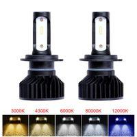 Wholesale mini led bulb 12v for sale - Group buy Elglux Mini LED H4 H11 H7 H8 H1 Canbus Headlight Bulb Car Light ZES LM W K K K V Lamp