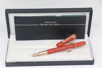 fontaine styles d'écriture stylo achat en gros de-High quality Various Styles Fountain pen Red body With Rose gold Snake Trim School Office Stationery Writing Pens Gift
