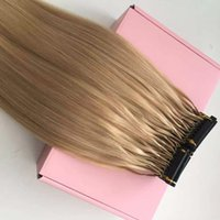 Wholesale Customized Available D Human Hair Extensions A Brazilian Virgin Hair Blonde Strands gram set Can Be Styled With Iron