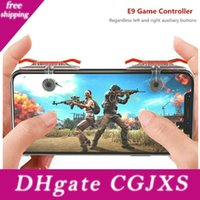 Wholesale e9 phone online – custom Mobile Phone Game Controller E9 Gamepad Shooter Button For Smartphone For Knives Out Eating Chicken Games
