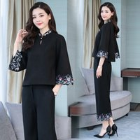 Wholesale china clothes for girls resale online - EygTS D7YmC spring cheongsam and autumn women s suit s fashion clothing Republic of China style two piece cheongsam for girls Chinese Ch