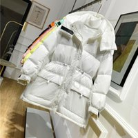 Wholesale duck candies for sale - Group buy season special offer candy coat jacket color mid length down jacket women s waist bright white duck down fashion wash free shell coat