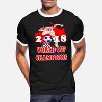 Wholesale world cup champions shirt for sale - Group buy Croatia World Cup Champions T Shirt Men Fit Cotton O Neck Cool Fit New Style Spring Unique
