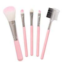 Wholesale makeup sets for beginners for sale - Group buy 5pcs set MakeUp Brushes For Beginner Tools Kit Eye Shadow Eyebrow Eyeliner Eyelash Lip Brush Makeup Brushes Cosmetic Kit KKA8061