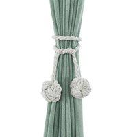 Wholesale screw loop resale online - Sheer Curtains Pair Curtain Tieback Knitting Long Loop No Screws Bedroom Holdbacks Tie Rope