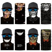 Wholesale multi coloured scarves resale online - 2020 Explosion Solid Colour Neck Skull Scarf Multi Purpose Outdoor Riding Magic Skull Scarf Men Summer Thin Headskull Scarf Pc