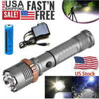 3800LM Upgraded T6 Tactical LED Flashlight Rechargeable Police Waterproof Zoomable Hiking Powerful Torch 18650 Battery + Direct Charger