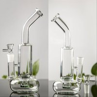 Wholesale bent neck bongs for sale - Group buy Clear Heady Tornado Bong Thick Bubbler Water Pipe Lifebuoy Base Cyclone Percolator Glass Recycler Beaker Bong Bent Neck Dab Rig High Quality