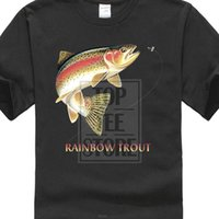Wholesale trout fishing lures resale online - Funky T Shirts Broadcloth Rainbow Trout Fish Lure Fly Fishings Shirt Tshirt Summer Style Fashion Men T Shirts Summer