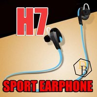 Wholesale best high quality headphones online – H7 For Iphone Samsung S7 Edge Wireless Bluetooth V4 Sport Earphone And Noise Reduction Stereo Headset Headphone Best Csr High Quality