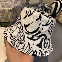 Wholesale baseball buckets resale online - 2020 fashion personality fisherman hat autumn and winter bucket hat lovers cap men and women baseball cap K1