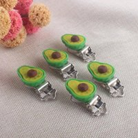 Wholesale cute pacifiers for babies resale online - Xcqgh Avocado Clips Feeding Baby Holder Diy Shape Cute For Nipple Pacifier Dummy Chain yxlQdc ABC2007