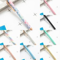 Wholesale pen reels for sale - Group buy CCJw9 carry favor Retractable Badge Blue push gift Ballpoint Reel Belt Clip creative Carabiner Pens refill Stationery Metal Ballpen Party Red