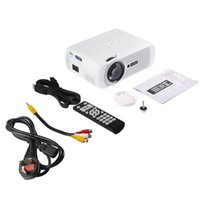 Wholesale video games media resale online - LESHP Portable Multi media LED Video Projector P HD LM with Keystone for Office Home Cinema Theater TV Game