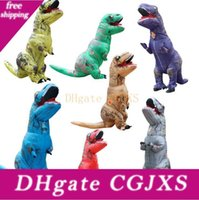 Wholesale Kids T Rex Inflatable Costume Christmas Cosplay Dinosaur Animal Jumpsuit Halloween Costume For Boys Girls