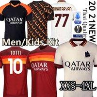 Wholesale Thai AS maillot roma soccer jersey DE ROSSI DZEKO ZANIOLO rome TOTTI PEROTTI jerseys football kit shirt Men Kids