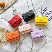 Wholesale girls princess handbags resale online - Children Designer Handbag New Girl Princess Chain Messenger Bag Kids Fashion Metal Chain Single Shoulder Change Purse S443