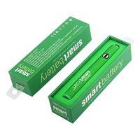 MOQ 1Pcs Ecig thick oil cartridge preheat variable voltage batteries 510 thread 380mah rapid pre-heat smart battery vape pen fit Smartcarts