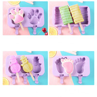 Wholesale homemade ice creams for sale - Group buy Silicone Ice Cream Mold Cartoon Cute Ice Cream Popsicle Ice Maker Mould Home Kitchen DIY Homemade Food Food Grade Popsicle Molds VT1515