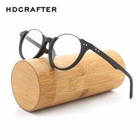 Wholesale wooden eyeglass frames for men resale online - HDCRAFTER Wood Metal Frames for Women Vintage Clear Glasses Wooden Men Computer Reading Glasses Eyeglasses Frames Men oculos