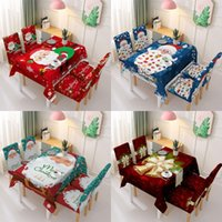 Wholesale christmas chair backs covers resale online - Tablecloth Xmas Chair Back Cover Decoration Polyester Waterproof New Year Christmas Tablecloth Rectangular Party Table Covers OWD761