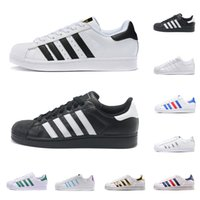 80 zapatos al por mayor-adidas superstar Envío gratis Superstars Blanco Negro Rosa Azul Oro Superstars 80s Pride Zapatillas Super Star Mujer Hombre Deporte Casuals Zapatos de la UE SZ36-45