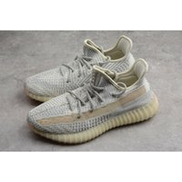 Wholesale earthing shoes for sale - Group buy Mens Kanye West V2 Sneakers Womens Grey Earth Desert Sage M Black Reflective Static Cinder Yechiel Tail Light Cream White Running Shoes